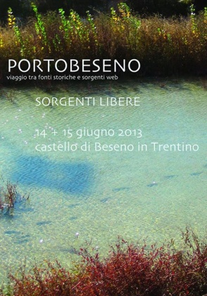 Portobeseno - Flyer - Sorgenti libere 14 - 15.06.2013
