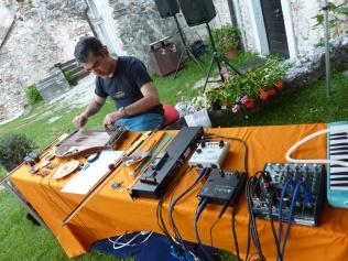 Difondo - soundcheck - Live in Portobeseno Festival 15.06.13 (Giampaolo Campus - zither)