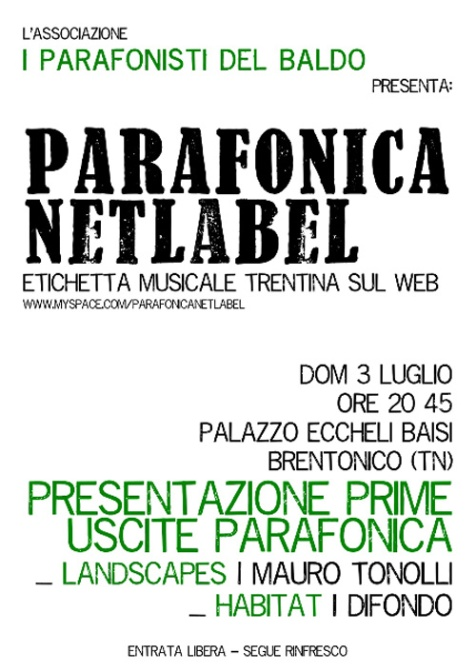 Live in Brentonico 03.07.2012 - Parafonica Night